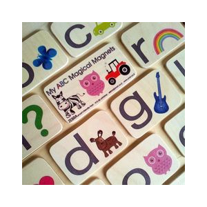 Handmadeinamerica - ABC Alphabet Magnetic Card Toy Set by Zebra